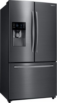 $1499 Best Buy Samsung - 24.6 Cu. Ft. French Door Refrigerator - Black Stainless - Angle Zoom