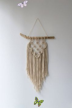 Macrame wall hanging, Woven wall hanging, Wall decor, Nursery decor, Home decor, Bohemian decor, Boho, Housewarming gift, Mothers day gift Macrame wall hanging, Woven wall hanging, Wall decor, Nursery decor, Home decor, Bohemian decor, Boho, Housewarming gift, Mothers day gift<br> A beautiful bohemian inspired handmade macrame wall hanging. Use this decorative wall hanging to add a handmade touch to your home, office or cabin. The wall hanging is carefully knotted by me in my home studio. I… Art And Craft Design, Woven Wall Hanging, Nursery Wall Decor, Easy Home Decor, Bohemian Decor, Home Decor Accessories, Plant Hanger, Mother Day Gifts, House Warming