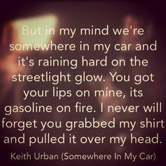 Keith Urban - Somewhere In My Car