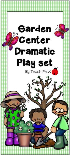 Garden Center Dramatic Play set for Preschool, Homeschool, PreK, and Kindergarten classrooms.  This set will transfor your dramatic play area into an environmental print rich garden center store!  Lots of fantastic graphics, numbers, and letters.  Add your own garden elements for nonstop fun and learning!