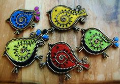 Bird collection by woolly  fabulous, via Flickr - these are incredible!
