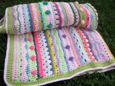 Lovely colors in this afghan blanket.