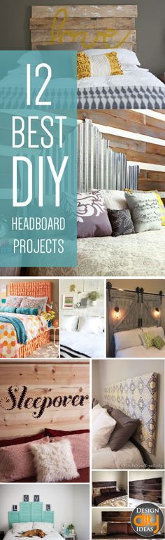 Need a new headboard? Check out these 12 DIY headboard projects!