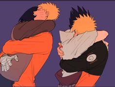 Naruto and Sasuke Naruto Vs Sasuke, Anime Naruto, Naruto Comic, Naruto Cute, Naruto Shippuden Anime, Itachi Uchiha, Sasunaru, Uzumaki Boruto, Narusaku
