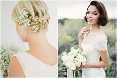 bridal hair for bobs - Google Search