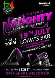 NAUGHTY LINGERIE/PAJAMA PARTY @ Loaw's Bar & Entertainment Center, Westerhall - July 19th #partygrenada