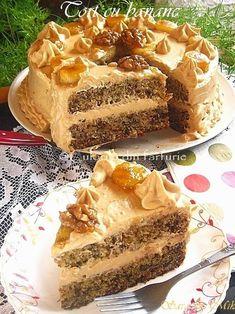 Tort cu banane My Recipes, Cake Recipes, Snack Recipes, Dessert Recipes, Cooking Recipes, Health Recipes, Snacks, Sweets Cake, Cupcake Cakes