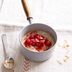 Raspberry and coconut oat porridge   Healthy Breakfast Recipes   FODMAP recipes - Red Online