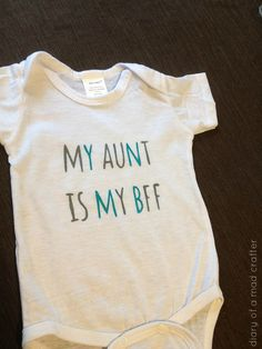 In honor of National Aunt and Uncle's day, I made this onesie for Bee! My sister and I were in Kohls the other day and we saw one, but it only came in girl colors (what, a nephew can't …