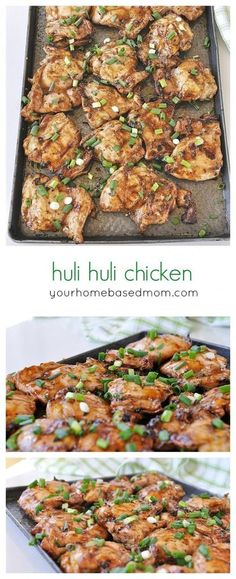 Huli Huli chicken is a delicious Hawaiian BBQ recipe. You start by marinating the chicken in huli huli sauce and then slowly roast your chicken by turning it over your grill. Huli Huli Chicken, Huli Huli Sauce, Hawaiian Dishes, Hawaiian Bbq, Hawaiian Chicken, Hawaiian Food Recipes, Hawaiin Food, Hawiian Party Food, Gourmet