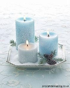 """""""How to Become a Master Candle Maker For Fun or Profit..."""" Soon, you'll finally learn how to make wonderful smelling candles that put those expensive candles sold in stores to shame. It's easy, fun and very rewarding! Your Blue candles Exhibiting Check out Blue candles #Blue candles #craft #DIY #bver Noel Christmas, All Things Christmas, Winter Christmas, Christmas Wedding, Xmas, Christmas Candles, Christmas Countdown, Christmas Ideas, Frozen Christmas"""