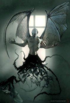 Vampire in motion Creepy, Scary, Dark Fantasy, Fantasy Art, Trailer Park, Dragons, The Crow, Ange Demon, Demon Wings