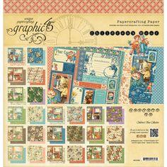 "Graphic 45 Double-Sided Paper Pad 12""X12"" 24/Pkg-Children's Hour, 24 Designs/1 Each"