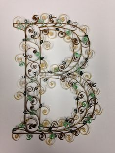 Paper quilling: Quilling Monogram Customizable by jgaCreations