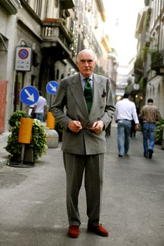 Mr. Luciano Barbera, Milan - from the Sartorialist
