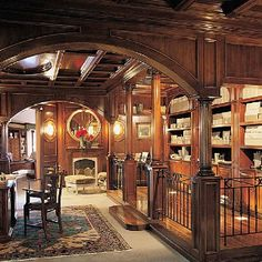 Incredible classic study-wonderful woodwork