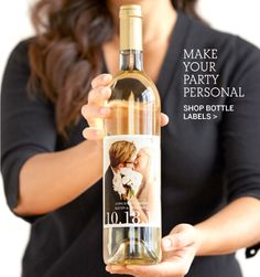 Pinhole press. Want to do this with our wedding wine and a wedding pic. Order a crate and save one and have the the other ones once a year on anniversary.
