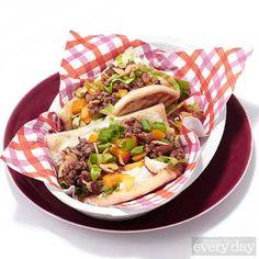 "Curry Turkey Naan Bread ""Tacos"""