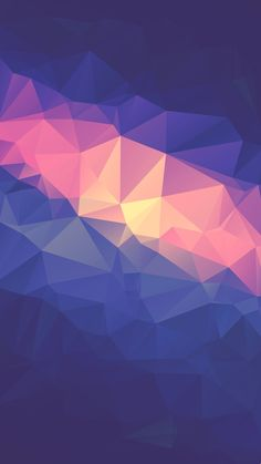 Neon Low Poly Triangles IPhone Wallpaper