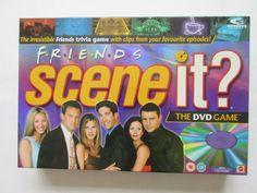 http://toptoyschristmas.uk/mattel-scene-it-friends-dvd-game  £19.99 Friends Scene It Board game (with DVD)  100% Complete