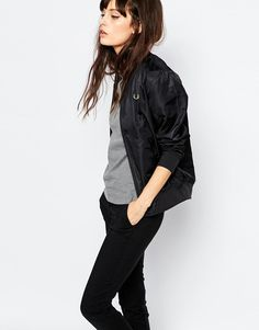Fred Perry   Fred Perry Hi Shine Bomber Jacket at ASOS