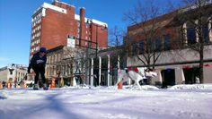 The Capitol Square in downtown Madison transforms into a winter wonderland every February for Madison Winter Festival.