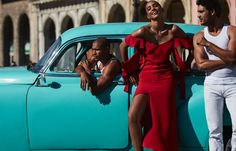 Photographed by Alvaro Beamud Cortes, Cora Emmanuel wears latin-inspired looks in Havana, Cuba