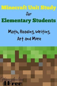 Looking for a way to teach your child and capture their interests at the same time? This Minecraft Unit Study might just be the ticket for you!