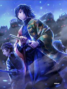 "Must Protect Them — Demon Slayer x Smartphone RPG ""White Cat Project"" Otaku Anime, Anime Guys, Manga Anime, Anime Art, Cool Anime Wallpapers, Animes Wallpapers, Anime Angel, Anime Demon, Dragon Slayer"