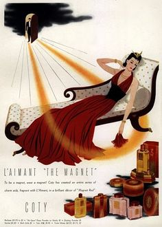 "Coty ad for L'Aimant ""The Magnet"""