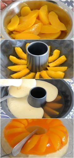 Delicious Peach Dessert Source by ssedefbetil Jello Desserts, Jello Recipes, Delicious Desserts, Dessert Recipes, Yummy Food, Tasty, Portuguese Desserts, Portuguese Recipes, Cuisine Diverse