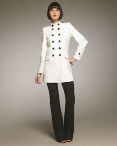 Burberry London A-Line Coat & Boot-Cut Pants