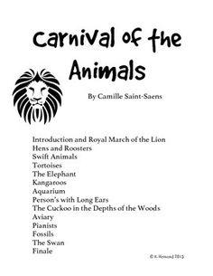 Kangaroo (Carnival of the Animals) | Free Printable Listening Map ...
