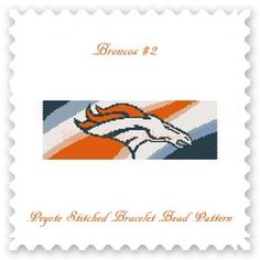 THIS ONE IS FOR ALL THE FANS OF THE DENVER BRONCOS!  THIS PDF Bead Pattern INCLUDES THE FOLLOWING:  1. A bead legend (bead numbers and colors needed) 2. The pattern design 3. A large, detailed, number