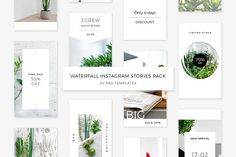 Waterfall Instagram Stories Pack by Swiss_cube on @creativemarket