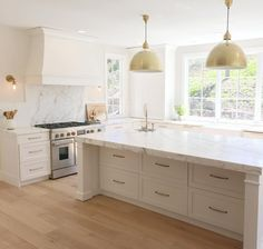 White Kitchen Ideas - White never stops working to give a kitchen layout a classic look. These elegant kitchen areas, consisting of every little thing from white kitchen cupboards to smooth white . Luxury Kitchens, Cool Kitchens, Modern Kitchens, Kitchens With Wood Floors, Coastal Kitchens, White Wood Kitchens, Tuscan Kitchens, Galley Kitchens, Traditional Kitchens