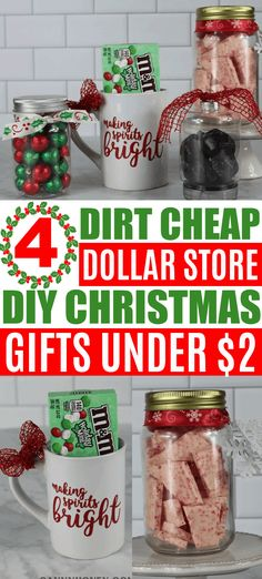 Inexpensive Christmas Gifts, Last Minute Christmas Gifts, Homemade Christmas Decorations, Dollar Store Christmas, Christmas Gifts For Friends, Homemade Christmas Gifts, Homemade Gifts, Christmas Diy, Holiday Decorations