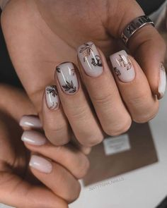 30 Pinterest Nails Wedding Ideas You Will Like ❤ pinterest nails nude with gold leaves ibdi_nails #weddingforward #wedding #bride #pinterestnails #weddingbeauty Heart Nail Designs, Square Nail Designs, Beautiful Nail Designs, Baby Pink Nails, Pink Manicure, Spring Nails, Summer Nails, Pinterest Nail Ideas, Sophisticated Nails