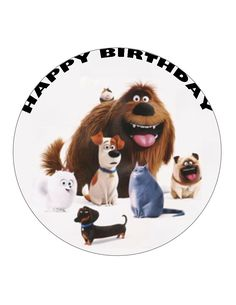 """7.5"""" 19cm THE SECRET LIFE OF PETS PERSONALISED WAFER/FONDANT PAPER CAKE TOPPER in Crafts, Cake Decorating 