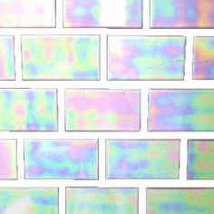 aurora borealis brick wall