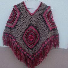 """squaw"" poncho femme crochet franges"