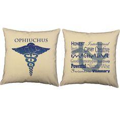 Ophiuchus Zodiac Throw Pillows - Set of 2