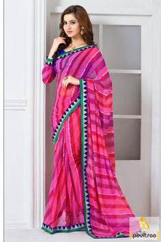 Look bold and beautiful in this adorable pink color silk saree online shopping with discount offer. Buy online this georgette saree at lowest price in India. #partywearsaree, #partysaree, #designerpartysaree, #embroiderysaree, #designersaree, #georgettepartysaree, #discountoffer,   #pavitraafashion, #utsavfashion, #onlinesareeshopping, #printedpartysaree, #silkpartysaree, #indiansaree http://www.pavitraa.in/store/embroidery-saree/ callus:+91-7698234040