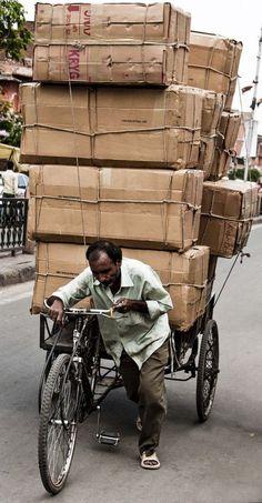 Overload in India Our World, People Around The World, Around The Worlds, Amazing India, India People, Cargo Bike, India Travel, Jaipur, Mumbai