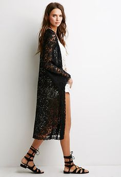 Embroidered Floral Mesh Kimono | Forever 21 | #springcollection