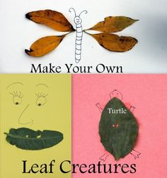 Leaf Creatures - A Fun Kids Fall Craft - Sidetracked Sarah