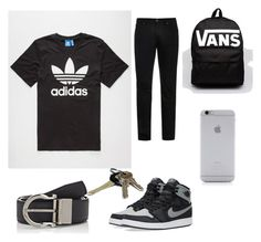 """Back to School outfit for teen boy"" by keyasw on Polyvore featuring adidas, Acne Studios, Salvatore Ferragamo, NIKE, Avon, Vans, Native Union, men's fashion and menswear"