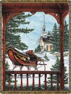 christmas scene- Cindy Throws