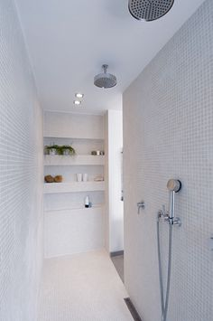 For the past year the bathroom design ideas were dominated by All-white bathroom, black and white retro tiles and seamless shower room Bathroom Toilets, Bathroom Renos, Laundry In Bathroom, Bathroom Interior, Bathroom Renovations, Design Bathroom, Bathroom Cleaning, Basement Remodeling, All White Bathroom