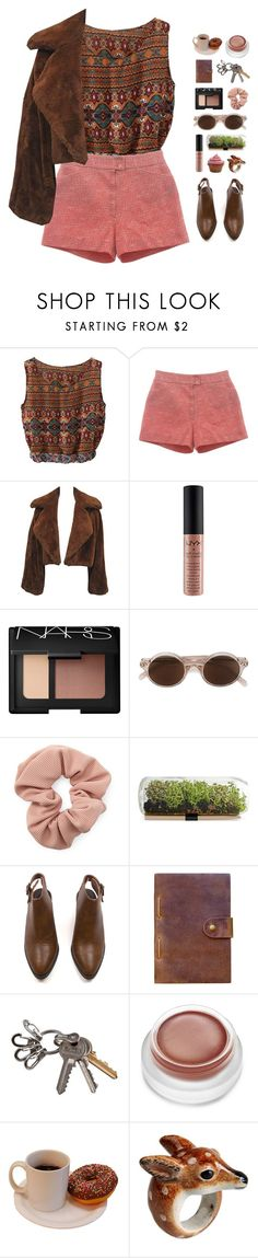 """uhm."" by ajeungs ❤ liked on Polyvore featuring NYX, NARS Cosmetics, CÉLINE, Forever 21, Rear View Prints, rms beauty and Nach"